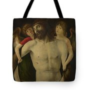 The Dead Christ Supported By Angels Tote Bag