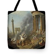 The Death Leap Of Marcus Curtius Tote Bag
