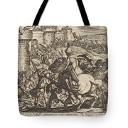 The Death Of Abimelech Tote Bag