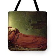 The Death Of Germaine Cousin The Virgin Of Pibrac Tote Bag by Alexandre Grellet