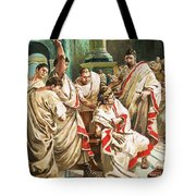 The Death Of Julius Caesar  Tote Bag