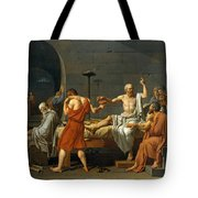 The Death Of Socrates Tote Bag