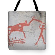 The Deer And Female Hunter Tote Bag