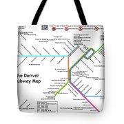 The Denver Pubway Map Tote Bag