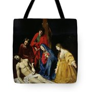 The Descent From The Cross Tote Bag by Nicolas Tournier