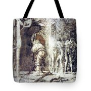 The Descent Into Hell 1468 Tote Bag