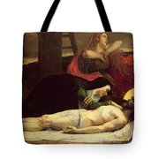The Descent Of Christ From The Cross  Tote Bag by Jean Joseph Weerts