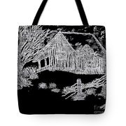 The Deserted Cabin At Night Tote Bag