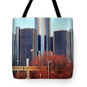 The Detroit Renaissance Center Tote Bag by Gordon Dean II
