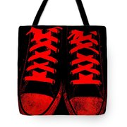 The Devil Wears Converse Tote Bag by Ed Smith