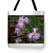 The Dew Of Little Things Tote Bag