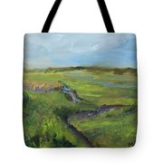 The Distant View Of The Marsh Tote Bag