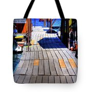 The Dock At Hill's Resort Tote Bag