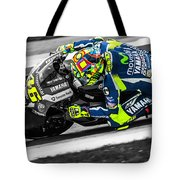 The Doctor At Assen Tote Bag