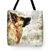 The Dog Speaks Tote Bag