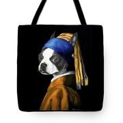 The Dog With A Pearl Earring Tote Bag