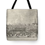 The Doge In The Bucintoro Departing For The Porto Di Lido On Ascension Day Tote Bag
