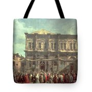 The Doge Visiting The Church And Scuola Di San Rocco Tote Bag