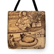 The Doll, The Kitties And The Gingerbread Boy Tote Bag
