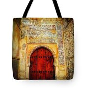 The Door To Alhambra Tote Bag