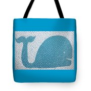 The Dotted Whale Tote Bag by Deborah Boyd