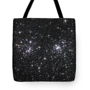 The Double Cluster, Ngc 884 And Ngc 869 Tote Bag