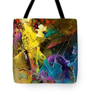 The Dragon Nursery Under The Apple Tree Tote Bag