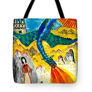 The Dragon Tote Bag by Sushila Burgess