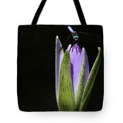 The Dragonfly And The Water Lily  Tote Bag