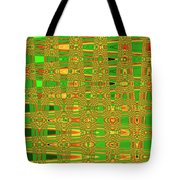 The Dreaded Bull Head Sticker Yellow Flower Abstract Tote Bag