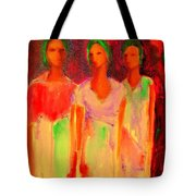 The Drums Of Africa Tote Bag by Johanna Elik