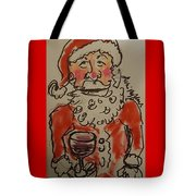 The Drunken Santa Tote Bag