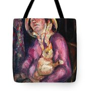 The Duck Girl Tote Bag