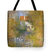 The Duck Pond Tote Bag by Claude Monet