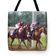 The Duel Tote Bag by Becky Herrera