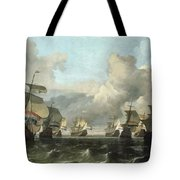 The Dutch Fleet Of The India Company Tote Bag