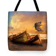 The Eagle And The Boat Tote Bag