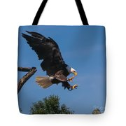 The Eagle Is Landing Tote Bag