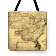 The Eagle Map Of The United States  Tote Bag