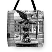 The Eagle - Widener University In Black And White Tote Bag