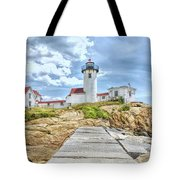The Eastern Point Lighthouse In Gloucester Tote Bag