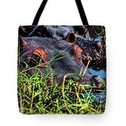 The Eating Machine Called A Hippo Tote Bag