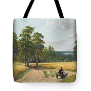 The Edge Of The Pine Forest Tote Bag