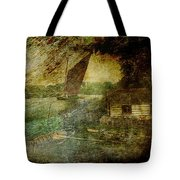 The Eel Fisher's Hut Tote Bag