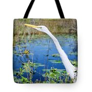 The Egret And The Dragonfly Tote Bag