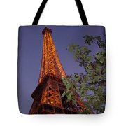 The Eiffel Tower Aglow Tote Bag