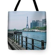 The Eiffel Tower And The Seine River Tote Bag