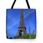 The Eiffel Tower In Spring Tote Bag