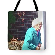 The Elderly Woman Tote Bag
