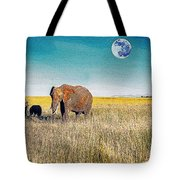 The Elephant Herd Tote Bag